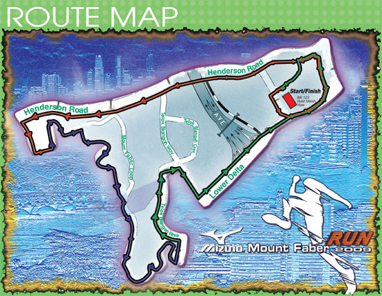 Route Map 10K across Mout Faber