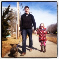 My run view 1/12/14 - meet Scott and Audrey, on the Trolley Trail, Kansas City, Mo.