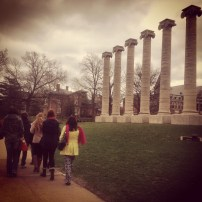 My walk view 4.4.14 - the columns at MU in Columbia, Mo. © Sally Morrow Photography