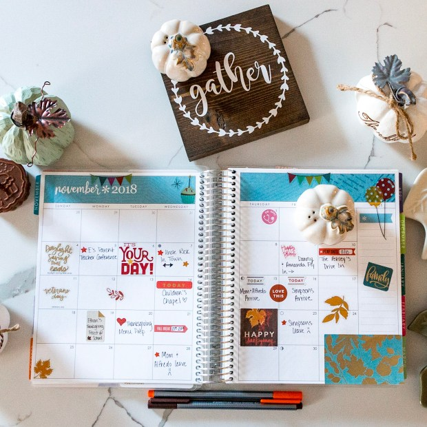 Decorating my Erin Condren Life Planner for Autumn