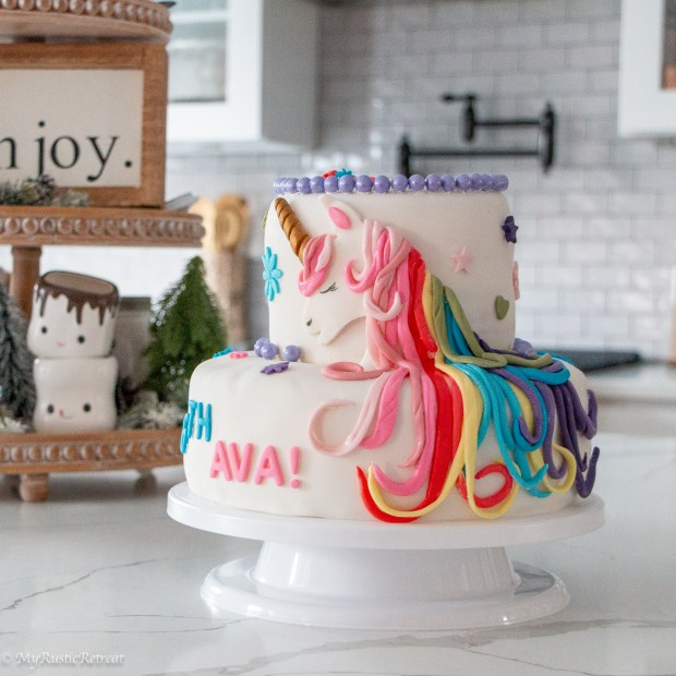 How we made a unicorn birthday cake