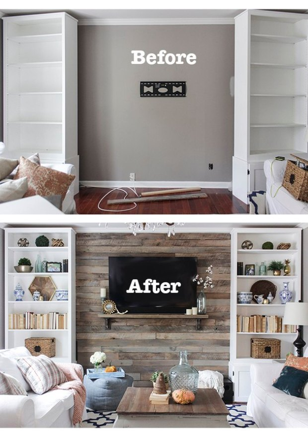 Before&After Accent Wall