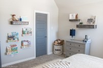 Shelving in Boys Room