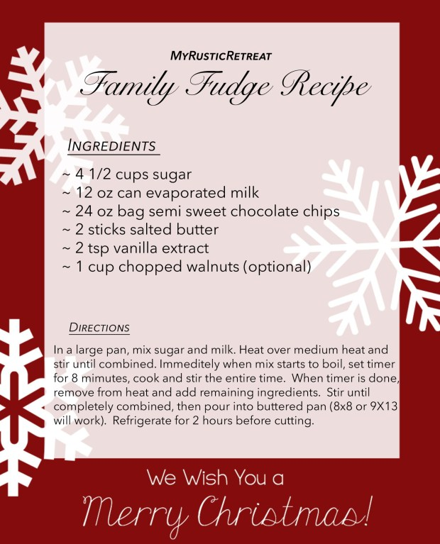 Family Fudge Recipe