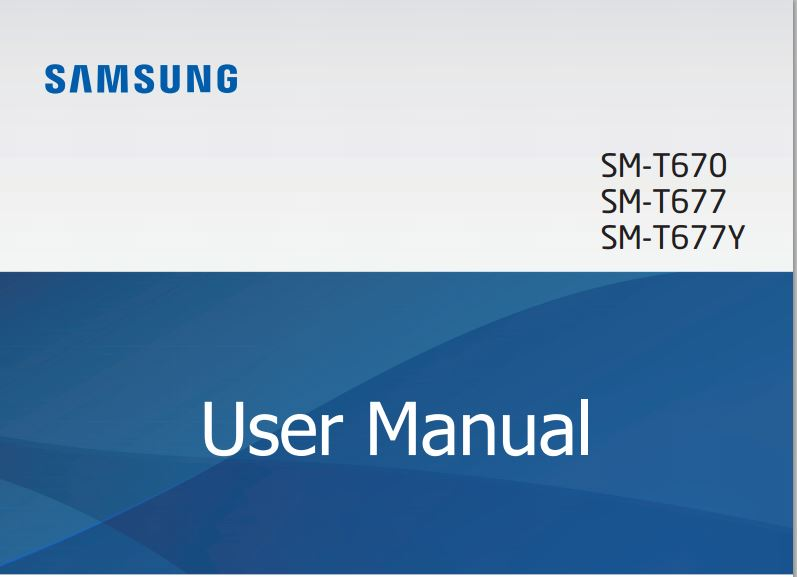 Samsung Galaxy View T670 user manual / guide