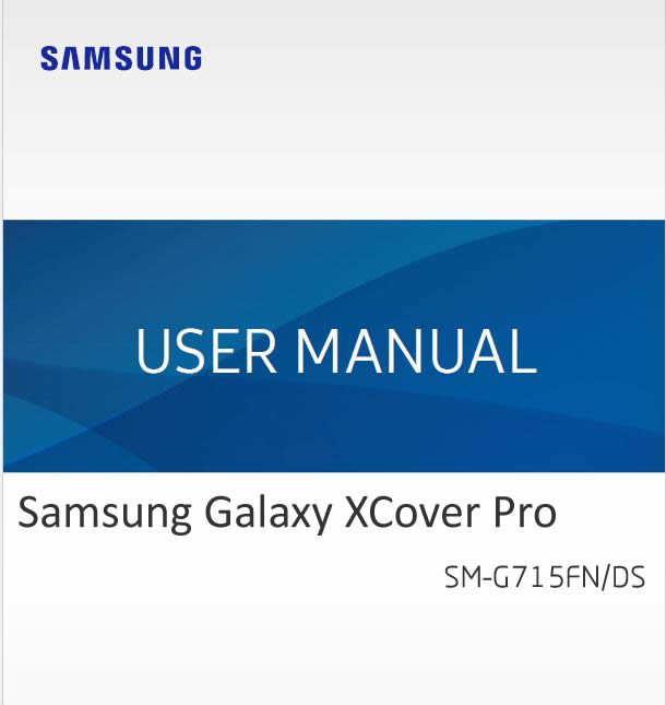 Samsung Galaxy XCover Pro SM-G715FN User Manual / Guide
