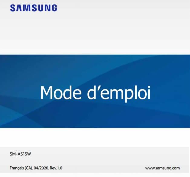 Samsung Galaxy A51 Canada User Manual