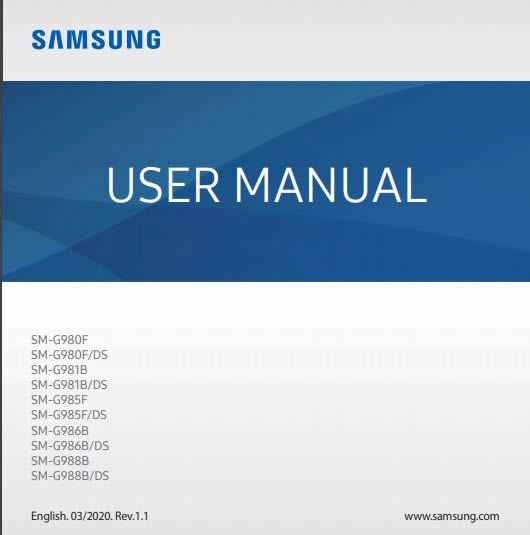 Samsung Galaxy S20 Manual Guide