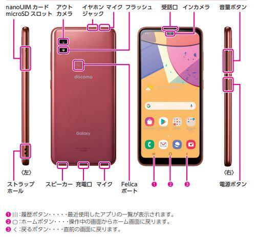 Samsung Galaxy A21 SC-42A Manaul - Japanese