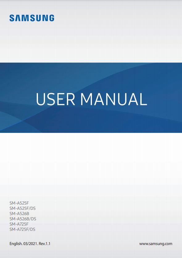 Samsung Galaxy A72 5G Manual / User Guide