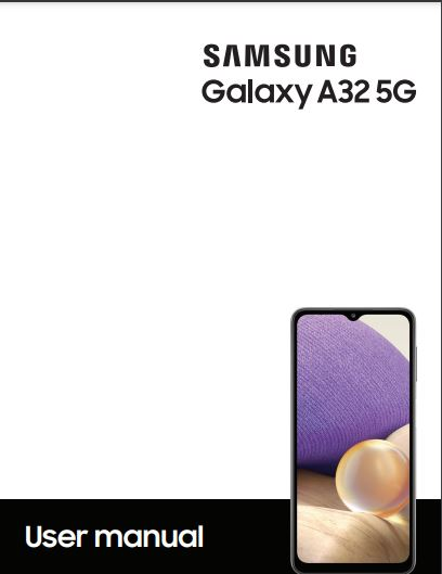 Tracfone Galaxy A32 5G S326DL manual / user guide