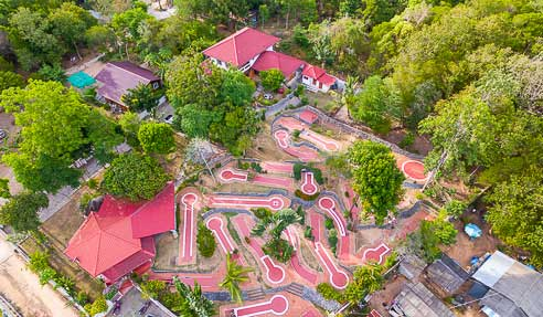Mini-Golf – A Rolling Business – North-East Of Koh Samui – Bophut