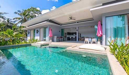Villa Silver Palm- Prime Location – South-East Of Koh Samui – Center Lamai