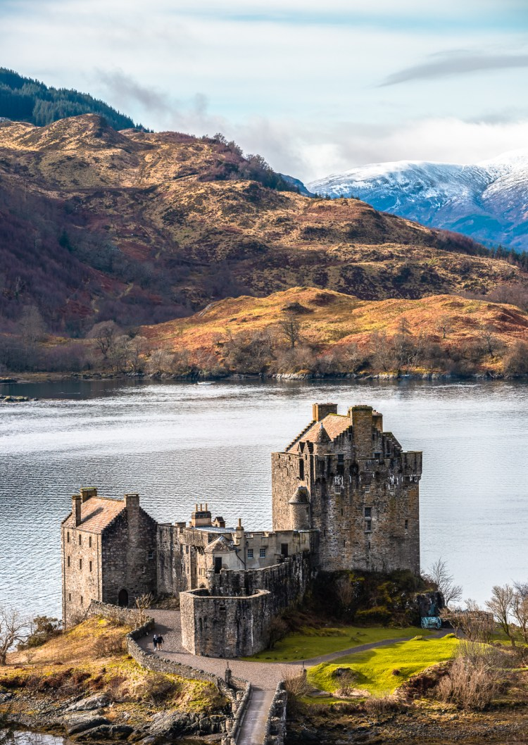 Eilean Donan Castle on a beautiful winter's day.