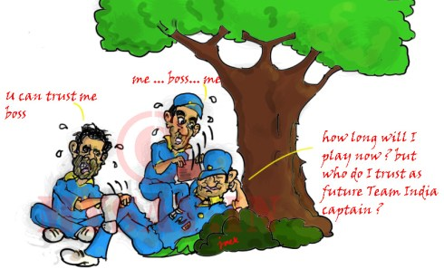 Gambhir image, Kohli cartoon image,Dhoni cartoon image