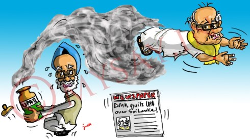 karunanidhi cartoon image,manmohan singh cartoon image,