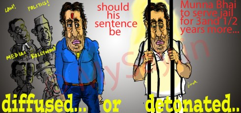 sanjay dutt cartoon image,