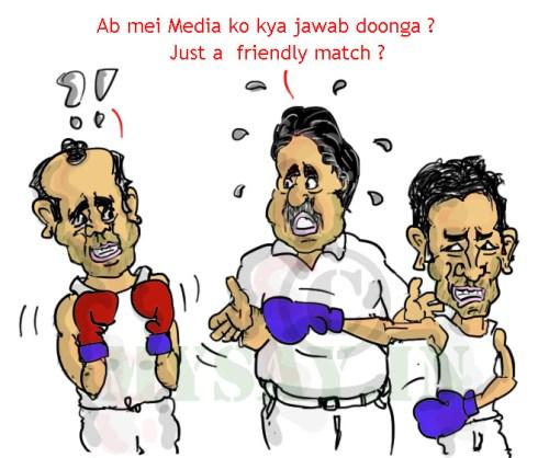 sehwag cartoon,dhoni cartoon,rajiv shukla cartoon,