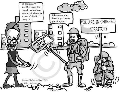 chinese incursion ladakh,mysay.in,cartoon