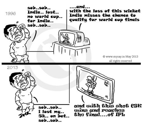 cricket cartoons,cricket fans,ipl betting,mysay.in ,cartoons