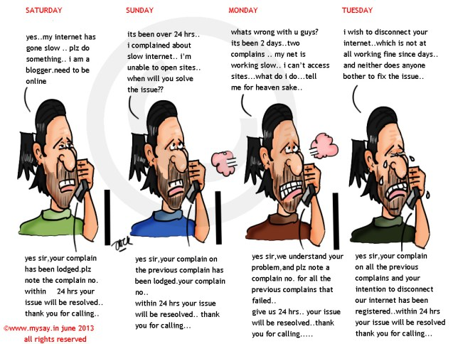customer service cartoon,blogging cartoon,comments,mysay.in,internet provider,