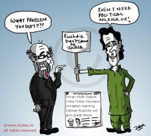 salman rushdie cartoon,imran khan cartoon,india today conclave,mysay.in