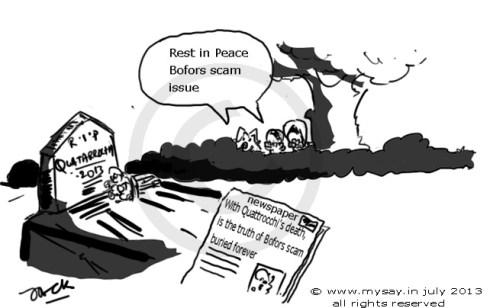 bofors scam cartoon,quattrocchi cartoon,congress cartoon,sonia gandhi,cbi,mysay.in,political cartoons