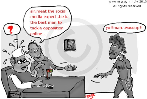 social media expert,sme cartoon,funny political cartoon,mysay,in,