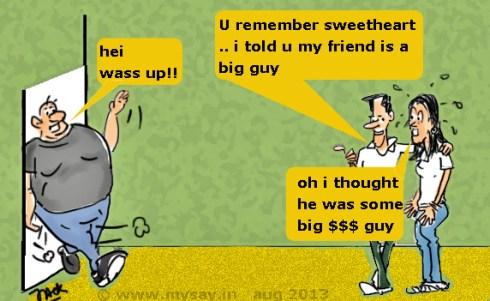 obese cartoon,obesity cartoon,fat guy,big guy cartoon,take lite,cartoon jokes,mysay.in