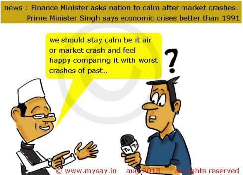 pm says economic crises better than 1991