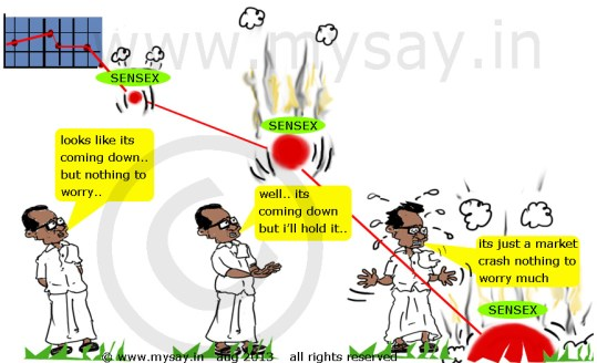 stock market crash,rupee cartoon,stock market cartoon,sensex cartoon,p chidambaram cartoon,mysay.in , political cartoon,