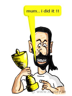 winning an award cartoon,award cartoon,mysay.in,mum i did it cartoon,