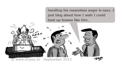office jokes,angry boss cartoon picture image,pictures on blogging,images on blogging,mysay.in,