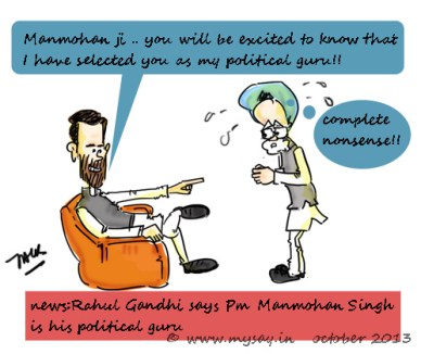 rahul gandhi funny image,manmohan singh cartoon picture,ordinance complete nonsense,political cartoon,mysay.in,