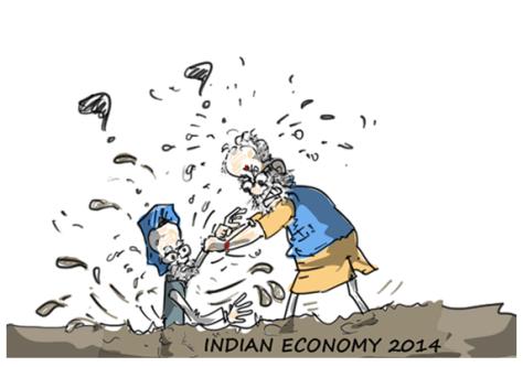 congress jokes,modi jokes,indian economy,mysay.in,political cartoons,