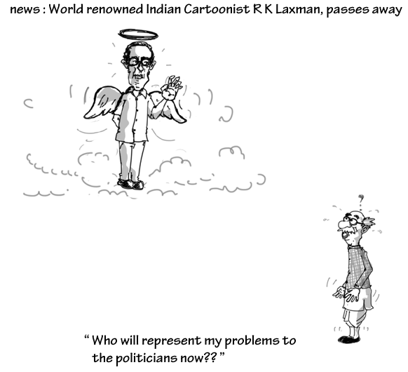 Cartoonist RK Laxman passes away