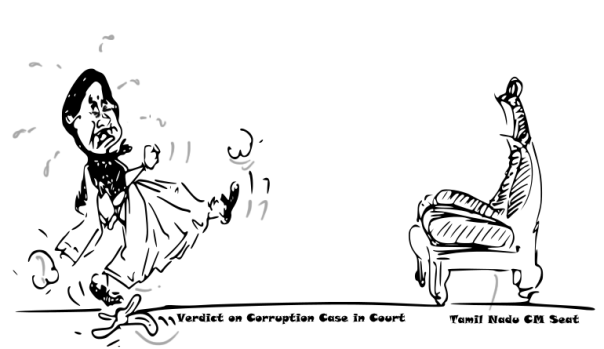 cartoon on sasikala convicted in corruption case