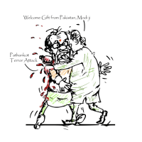 Cartoon on Pathankot Terror Attack