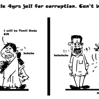 Cartoon on Sasikala 4 Years Jail for Corruption | Can't be CM