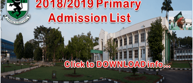 UNN Latest News!! Check 2018/2019 Primary Admission