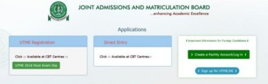 Official Link to Print JAMB Mock Exam Slip for 2018