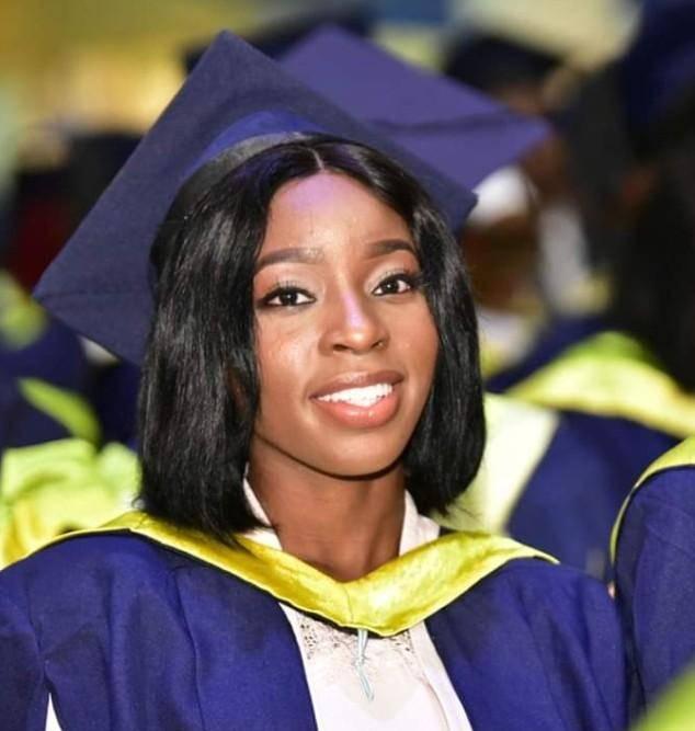 Pretty UI Female Student Graduates with a 7.0 CGPA