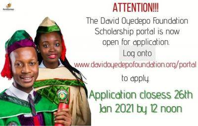Study in Covenant and Landmark Universities: David Oyedepo Foundation Scholarships 2021
