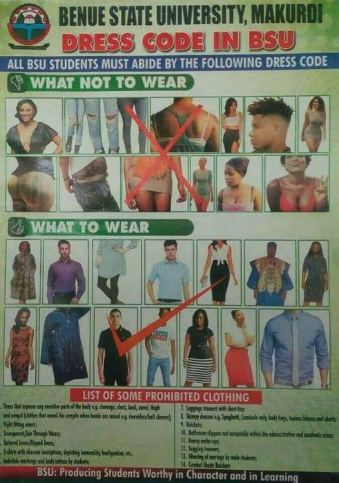 BSU Publishes Acceptable Dress Code For Students