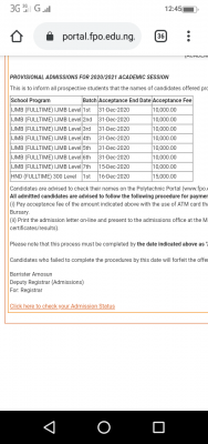 Federal Poly Offa releases first batch HND admission lists for 2020/2021 session