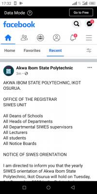 Akwa Ibom Polytechnic notice on SIWES orientation