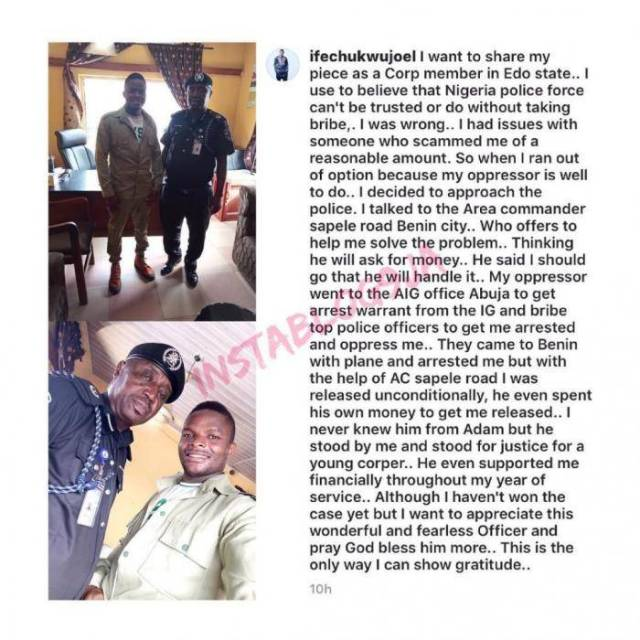 Ex-corps Member Praises Policeman who Saved Him from His Powerful Oppressor