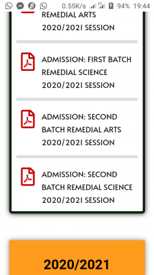 BOSU 2nd Batch Remedial Admission List