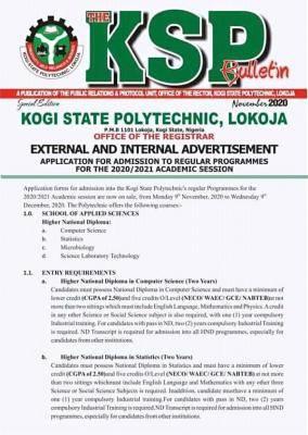 Kogi State Poly Admission Form