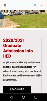 FUPRE IIDE postgraduate admission, 2020/2021 session